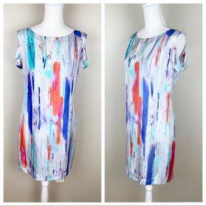 Badgley Mischka 100% Silk mini dress. Size M.